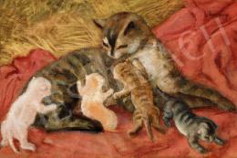Berény Róbert - Család (Macskák)