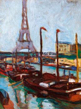 Körmendi-Frim Ervin - Szajna-part az Eiffel-toronnyal