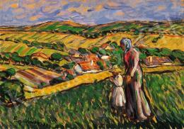 Egry József - Hazafelé a domboldalon (1914)