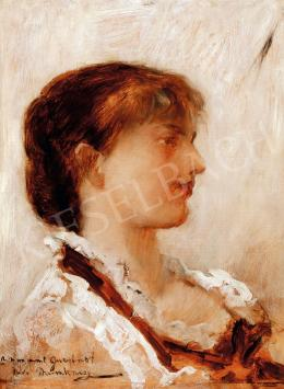 Munkácsy Mihály - Fiatal lány fehér fodros blúzban