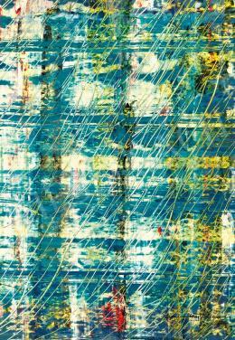 Gyarmathy Tihamér - Kék-sárga kompozíció