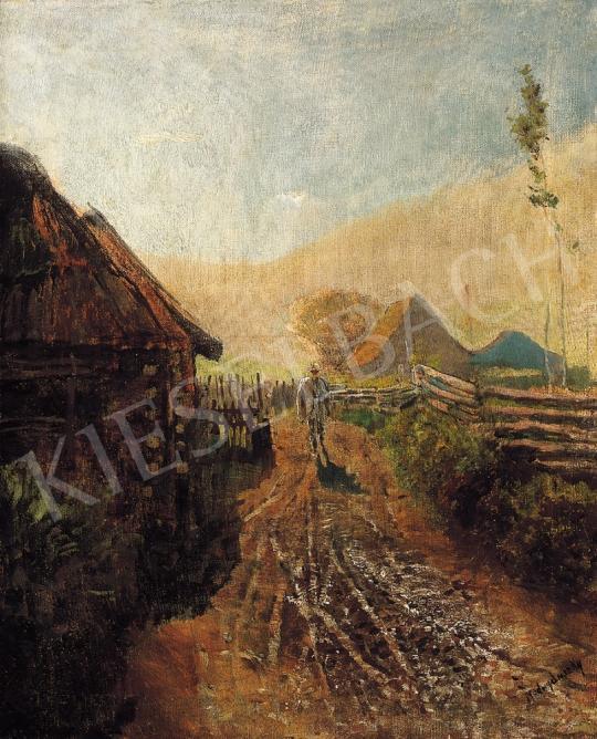Mednyánszky, László - Arrival at home   16th Auction auction / 13 Lot