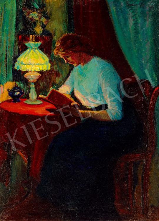 Kádár Géza - Olvasó lány | 43. Aukció aukció / 166 tétel