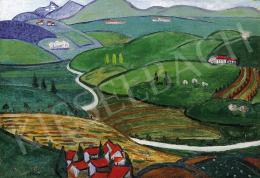 Guidici, Luigi de - Italian landscape, 1915