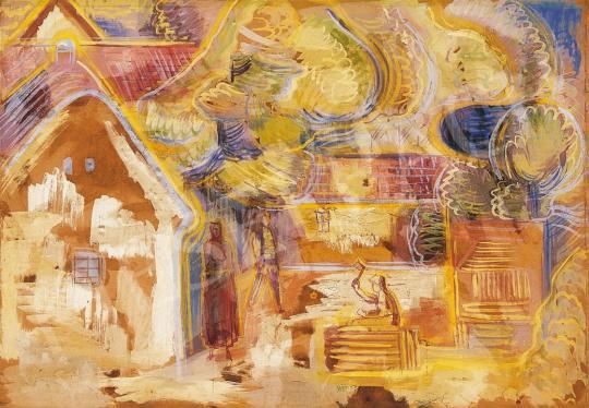 Hincz Gyula - Udvarban | 16. Aukció aukció / 46 tétel