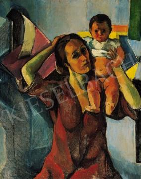 Perlrott Csaba, Vilmos - Mother and child | 16th Auction auction / 48 Item