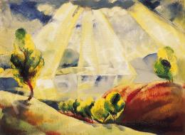 Ducsay, Béla - Rays of light above the Danube-bend, 1930