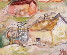 Tóth, Menyhért - Landscape with houses, about 1958