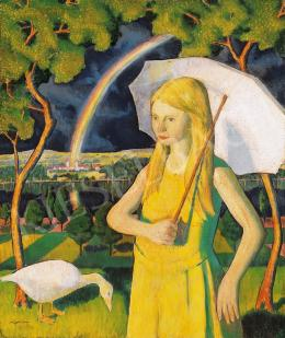 Hegedűs Endre - Kislány napernyővel