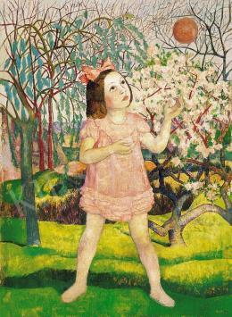 Hegedűs Endre - Labdázó kislány