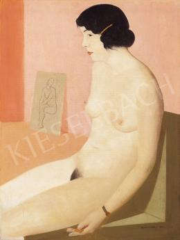 Kontuly Béla - Akt műteremben, 1934