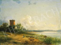 Ifj. Markó Károly - A Trasimeno tó látképe