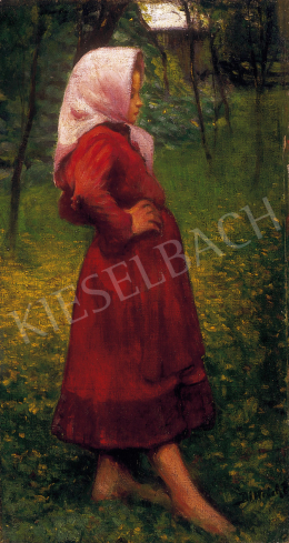 Ditrich, Zoltán - Little girl in red dress