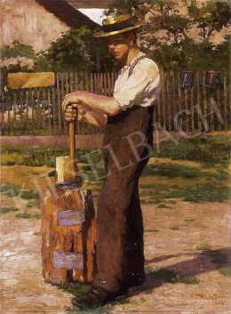 Mérő, István - Man in a straw hat
