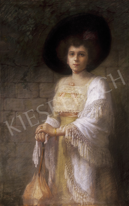 Aggházyné Balló Mariska - Kalapos hölgy | 12. Aukció aukció / 23 tétel