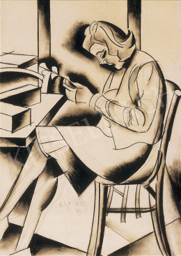 Scheiber, Hugó - Woman  reading