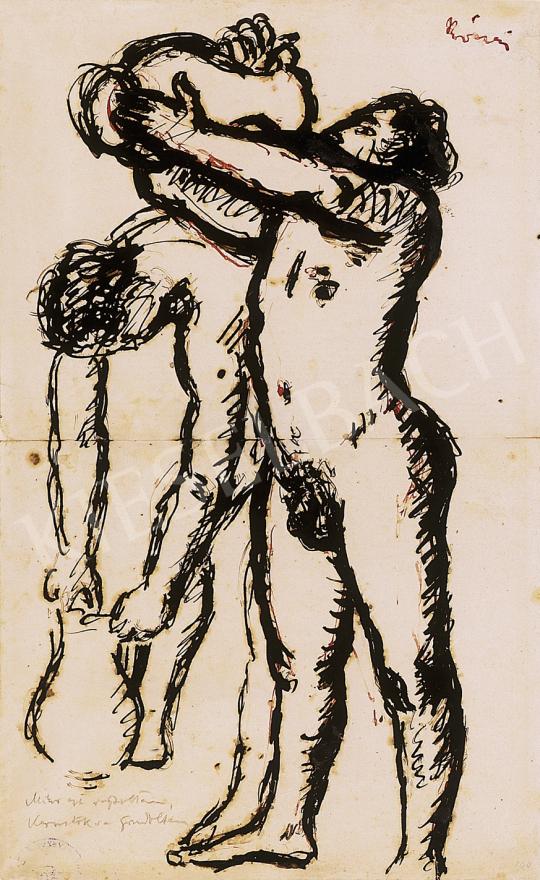 Rippl-Rónai József - Mikor ezt rajzoltam,  Kernstokra gondoltam   12. Aukció aukció / 46 tétel