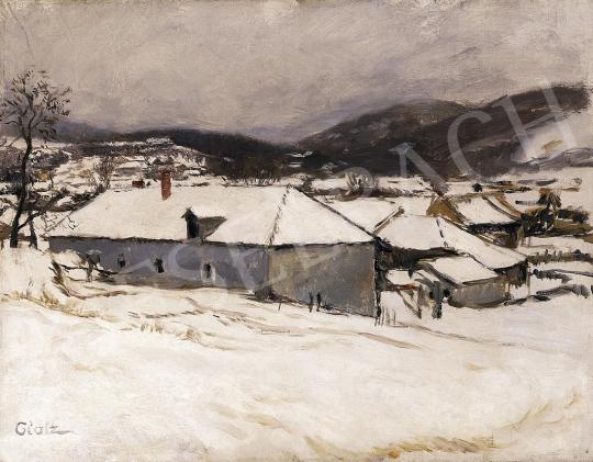 Glatz Oszkár - Téli falu   12. Aukció aukció / 49 tétel