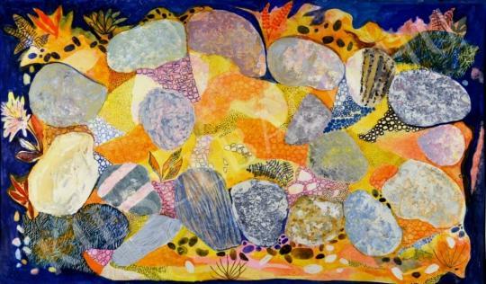 Eladó Pintér Éva - Tengerparti kövek festménye