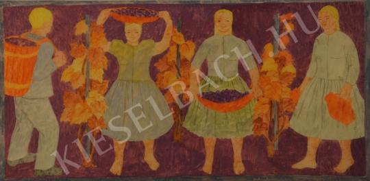 Eladó Pintér Éva - Szüret (Rusztikus falvédő) festménye