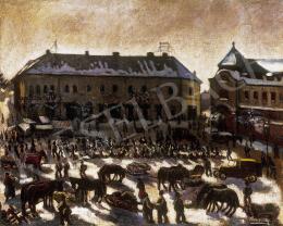 Husovszky János - Nagybányai vásár