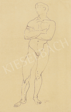 Kernstok Károly - Férfiakt | 12. Aukció aukció / 104 tétel