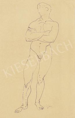Kernstok, Károly - Nude of a man
