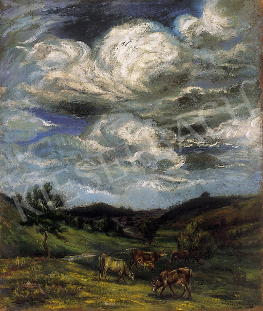 Kernstok, Károly - Under the swirling clouds | 12th Auction auction / 106 Item