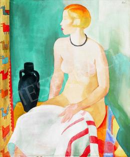 Patkó, Károly - Nude with black vase