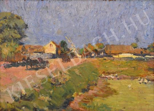 For sale Turmayer, Sándor - Little Lake near the Houses 's painting