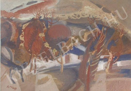 Eladó  Cs. Nagy András - Tájkép festménye