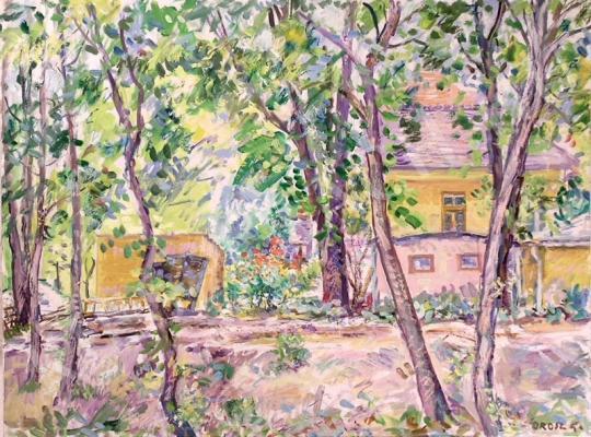 Eladó Orosz Gellért - Kertrészlet festménye