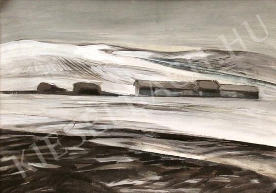 Eladó Papp László - Téli táj festménye