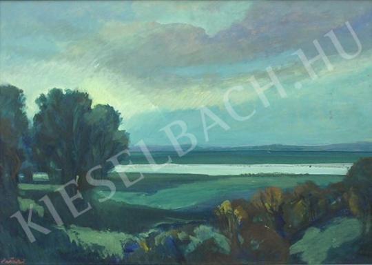 Eladó  Pataki József - Felhős táj festménye
