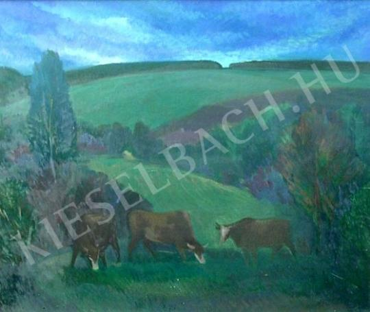 For sale  Pataki, József - Grazing Cows 's painting