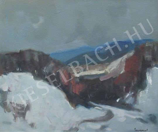 Eladó  Sándorfalvi Sándor - Tél a Vértesben festménye