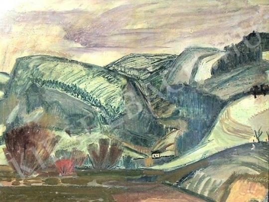Eladó M. Tóth István - Dombos táj festménye