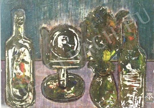 Eladó Tóth-Vissó Árpád - Butéliás csendélet festménye
