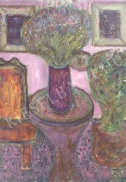 For sale Tóth-Vissó, Árpád - Still-Life with Old Chair 's painting