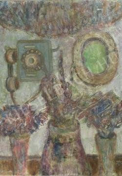 Eladó Tóth-Vissó Árpád - Csokrok öreg telefonnal festménye