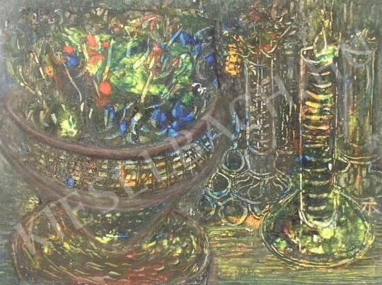 Eladó Tóth-Vissó Árpád - Ikebanás csendélet festménye