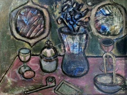 Eladó Tóth-Vissó Árpád - Pipás csendélet festménye