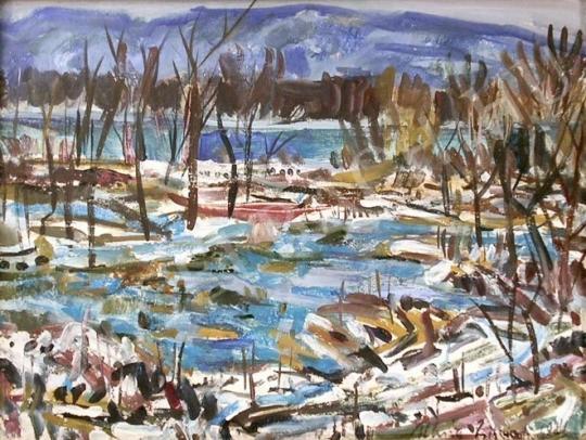Eladó  Uhrig Zsigmond - Duna menti táj festménye