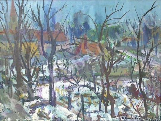 For sale  Uhrig, Zsigmond - Landscape from Göd 's painting