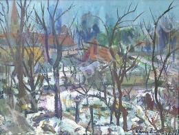 Uhrig, Zsigmond - Landscape from Göd