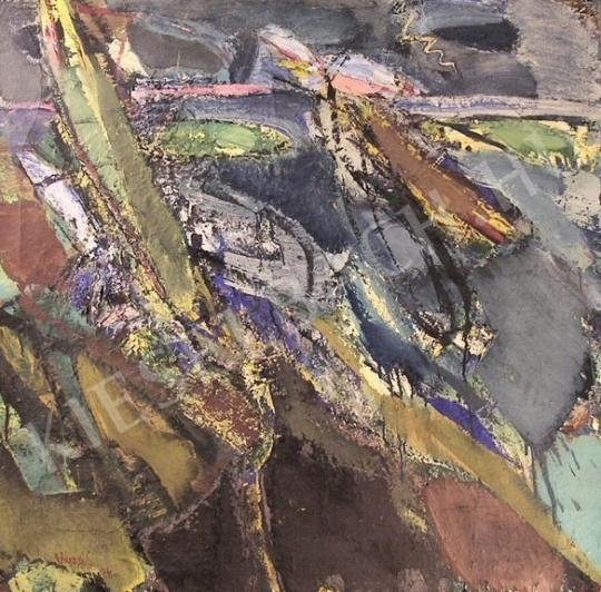 Eladó Veress Sándor László - Viharos táj, 1974 festménye
