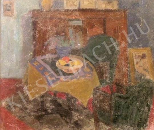 Eladó  Bazsonyi Arany - Enteriőr nyitott ajtóval festménye
