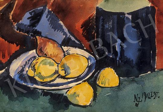 Nemes Lampérth József - Csendélet citromokkal | 11. Aukció aukció / 1 tétel