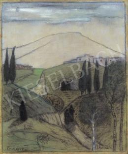 Gulácsy Lajos - Itáliai táj alakokkal, 1903