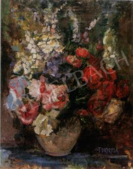 Thorma János - Tavaszi virágcsokor vázában